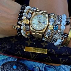 Love how Tiffany Jazelle stacks her bracelets with My Saint My Hero Blessing Bracelets!