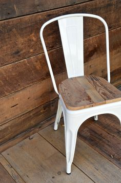 Custom Reclaimed Wood Seat, Retro Fit Kit for Tolix Stools & Chairs