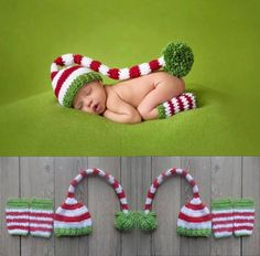 Holiday Outfit $22.99  Newborn Photography Prop Holiday Outfit. Size 0-6months...
