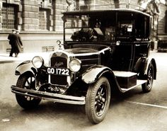 An Austin 7 taxi cab in London - 1 May 1935