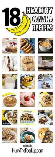 18 Healthy Banana Recipes. The world's greatest collection of delicious and nutritious banana recipes all in one place | hurrythefoodup.com