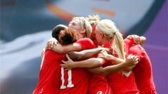 Diana Matheson's 92nd minute goal leads Canada to a 1-0, bronze medal victory over France in women's soccer. Go Team Canada! Yay!