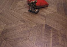 Produkter - Skovin Hexagon valnøtt Engineered Wood Floors, Hardwood Floors, French Oak, Stone Tiles, Wooden Flooring, Porcelain Tile, My Dream Home, Solid Wood, House Design
