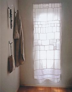 Pojagi-like curtain from Hand Made Home - Mark and Sally Bailey  http://www.amazon.co.uk/Handmade-Home-Living-art-craft/dp/1849751552/ref=sr_1_1?ie=UTF8=1345971461=8-1