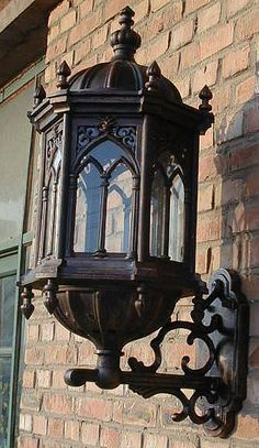 Gothic Wall Light - used by bed