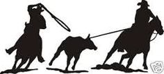 Image result for cowboy roping silhouettes