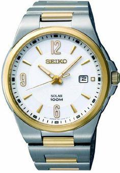 Seiko Solar Quartz Two-tone Mens Watch SNE210 Seiko. $154.95. Seiko SNE210. Solar Powered. 100 Meters Water Resistant. Two Tone Dress Watch. Save 46% Off!