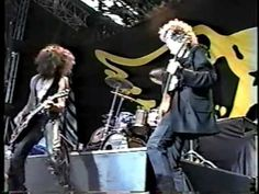 Jimmy Page & Aerosmith onstage and backstage at Donington 1990.             ....0nly if I could kick it over.  ... If you want to...seems kinda expensive...ha, ha.