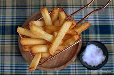 reteta french fries cartofi prajiti de doua ori Wiener Schnitzel, Apple Pie, Tableware, Desserts, Tailgate Desserts, Dinnerware, Deserts, Tablewares, Postres