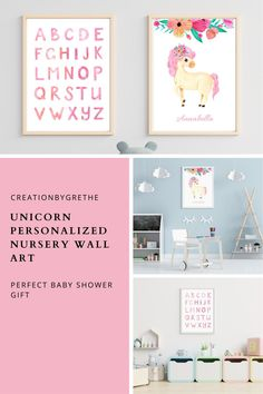 Are you looking for an easy, affordable and convenient way to decorate your child's room then you're in the right place. This unicorn alphabet poster is the perfect piece that will add the finishing touch to your child's room or nursery. Shop it now. #unicornnurserywallart #unicornprints #alphabetposter #abcposter #kidsroomdecor Alphabet Poster, Abc Poster, Playroom Wall Decor, Nursery Wall Art, Playroom Printables, Unicorn Print, Art Classroom, Child's Room, Baby Gifts