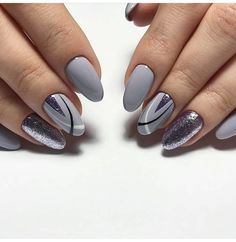 50 Geometric nail art designs for 2019 Geometric Nail Art designs are most popular nail designs aamong nail fashion because of the actuality that these Square Nail Designs, Grey Nail Designs, Pretty Nails, Fun Nails, Nail Art Photos, Wall Photos, Uñas Fashion, Latest Fashion, Fashion Trends