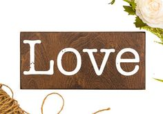 Wood love sign handmade by Honeysuckle and Pine. Painted wood sign for beer lovers. Love Wood Sign, Love Signs, Neutral Gray Paint, Funny Bathroom Decor, Love Wall Art, Bedroom Signs, Grey Stain, Modern Farmhouse Decor, Book Lovers Gifts