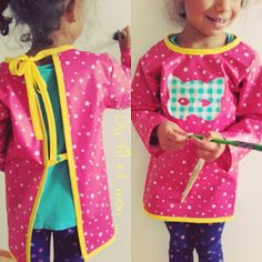 Du fil et mon...: Blouse enfant TUTO DIY Diy Blouse, Art Smock, Baby Couture, Sewing Accessories, Smocking, Baby Kids, Baby Baby, To My Daughter, Sewing Patterns
