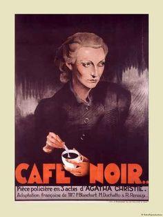 CAFE NOIR ORIGINAL FRENCH MOVIE POSTER AGATHA CHRISTIE THRILLER