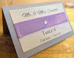 Elegant Wedding Place Cards by KLCDesigns on Etsy