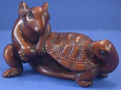 Wood Netsuke for Sale | Handwork Boxwood Netsuke Wood Carving Mouse Draw Turtle | eBay