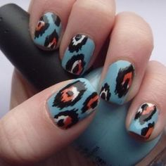 Tribal nail art is a must!