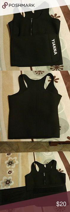 Sauna suit Black zipper sauna suit, mini pocket on the inside. Size 4x but runs small. Other