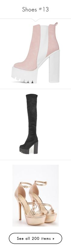 """""""Shoes #13"""" by maddiecau99 ❤ liked on Polyvore featuring shoes, boots, ankle booties, pink, faux leather chelsea boots, pink booties, side zip boots, chunky chelsea boots, faux-leather boots and black"""