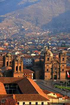 Cuzco sunset - Make sure to climb the west mountain of Cuzco just before sunset to get an amazing view of and over Cuzco, Peru.