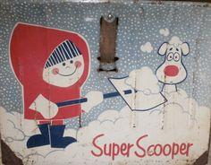 Vintage metal children's snow shovel
