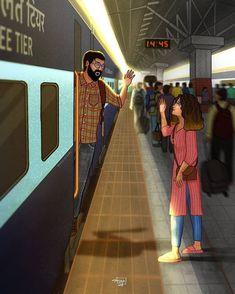 Couple Illustration, Indian Illustration, Illustration Art Drawing, Illustration Story, Love Cartoon Couple, Cute Love Cartoons, Cute Couple Drawings, Cute Couple Art, Nepal