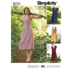 Simplicity Sewing Pattern S8231 Misses' Dress in Two Lengths … WeaverDee.com