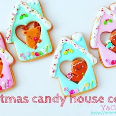 "【 Christmas candy house cookies 】tutorial  Full version ➡︎YouTube ▶️""Y&Csweets"" Check it out (pls see my prof for the link) 久しぶりにYouTubeに動画をUPしましたフルバージョンで是非見てね #icingcookies#cookies#edibleart#royalicing#decoratedcookies#christmas#christmascookies#noel#merrychristmas#happyholidays#sweet#sweets#lindo#cute#kawaii#baking#instasweet#galletas#쿠키#아이싱쿠키#曲奇#アイシングクッキー#クッキー#クリスマス#クリスマスクッキー#ycsweets"