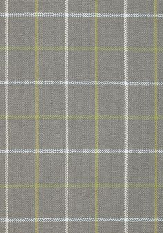 Laurence Plaid woven fabric in Grey from Anna French