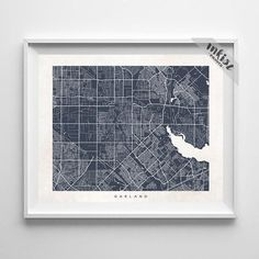 Garland, Texas Street Map Print