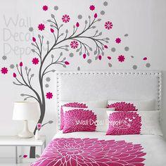 Vinyl Tree Wall Decal Wall Sticker Art Curvy by WallDecalDepot, $85.00