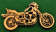 wood motorcycle christmas ornament