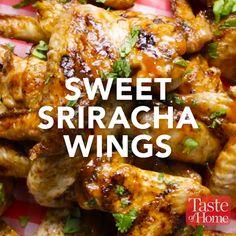 Sweet Sriracha Wings Recipe