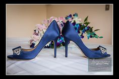 Something Blue  Photo by Impressions Photo and Video http://impressionsphotoandvideo.com #WeddingShoes #SomethingBlue #WeddingRIng