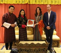 The Duke and Duchess of Cambridge presented the King and Queen of Bhutan with a new variety of rose during their dinner with the couple on their recent royal tour