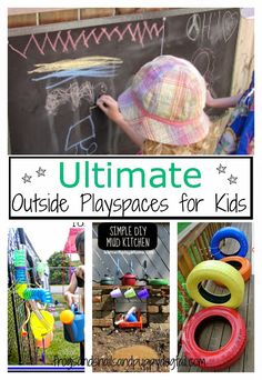 Ultimate Outside Playspaces for KidsMake your own simple backyard Mud Kitchen by Learn with Play at Home