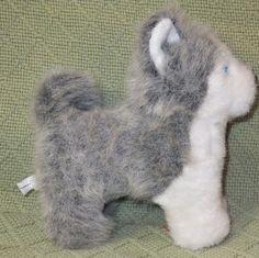 "American Girl Pepper HUSKY Dog Puppy  AG 6"" Tall Grey White Huskie Doll Pet Toy #AmericanGirl #plush"