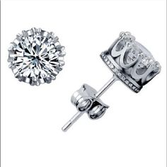 Sterling Silver CZ Stud earring Brand New Sterling Silver CZ stud earring Jewelry Earrings