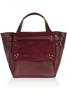 leather and suede tote