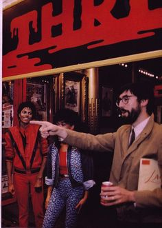 Michael Jackson, Ola Ray, and John Landis :)