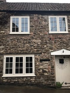 Residence 9 Installation by New Trade Windows Bristol in Clotted Cream Upvc Windows, Windows And Doors, Front Windows, Bungalow Exterior, Cottage Exterior, Cottage Windows, House Windows, Window Frames, Window Ideas