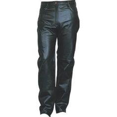 Ladies Jean Style Black Leather Five Pocket Pants