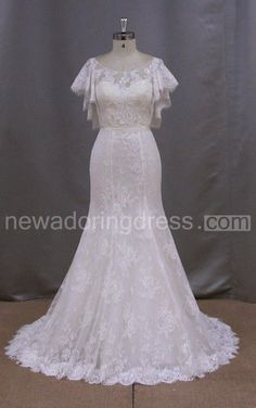 US$141.34-Vintage Bateau Neck Lace Mermaid Wedding Dress With Sleeves. http://www.newadoringdress.com/bateau-neck-lace-mermaid-wedding-dress-with-cape-pET_711388.html. Shop for Best wedding dresses, Lace wedding dress, modest wedding dress, strapless wedding dress, backless wedding dress, wedding dress with sleeves, mermaid wedding dress, plus size wedding dress, We have great 2016 fall Wedding Dresses on sale. Buy Wedding Dresses online at NewAdoringDress.com today!