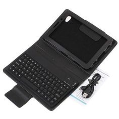 """Wireless Bluetooth Keyboard&Leather Case Stand for Samsung Galaxy Tab 7.7"""" P6800 #genericcompatibletogaklaxyp6800"""