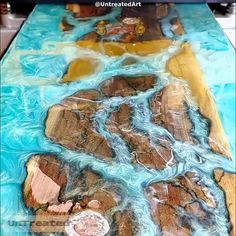 How To Make Money With Resin Table! Epoxy Resin Table, Epoxy Resin Art, Epoxy Table Top, Woodworking Projects Diy, Diy Wood Projects, Diy Resin Crafts, Wood Crafts, Diy Resin Table, Wood Table Design