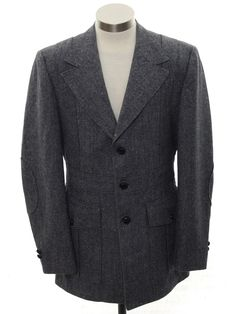 2a89f3bf126d Vintage 1950s MAYFIELD 4 CLOTHES Charcoal Gray Flannel Triple Patch ...