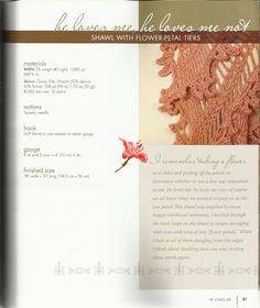 Shawl with flower-petal tiers 花瓣层披肩 - 木棉花 - 雨茫茫,雾茫茫,盼望花开,花已落……