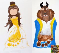 Disney Inspired Beauty and the Beast Footprint Craft | The Keeper of the Cheerios