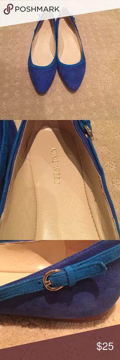 NEW Nine West blue flats. 7.5 NWOT Nine West shoes. Blue size 7.5 Shoes Flats & Loafers