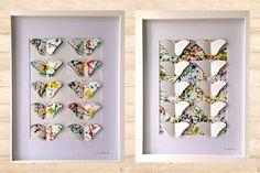 3D Splatter Paint Butterfly Duo Framed Art by CleverMakings, €59.00